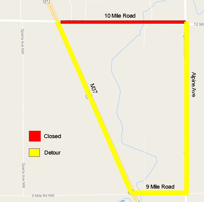 Projects on 10 Mile Rd  & Packer Dr  Begin Tuesday, September 6