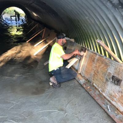 KCRC Develops Low-cost, Low-Impact Process to Extend Culvert Life