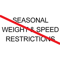 Seasonal restrictions LIFTED March 27 at 6AM